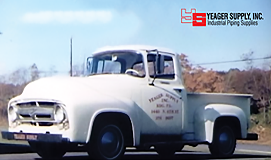 FORD PICK-UP TRUCK WAS FIRST VEHICLE PURCHASED BY YEAGER SUPPLY